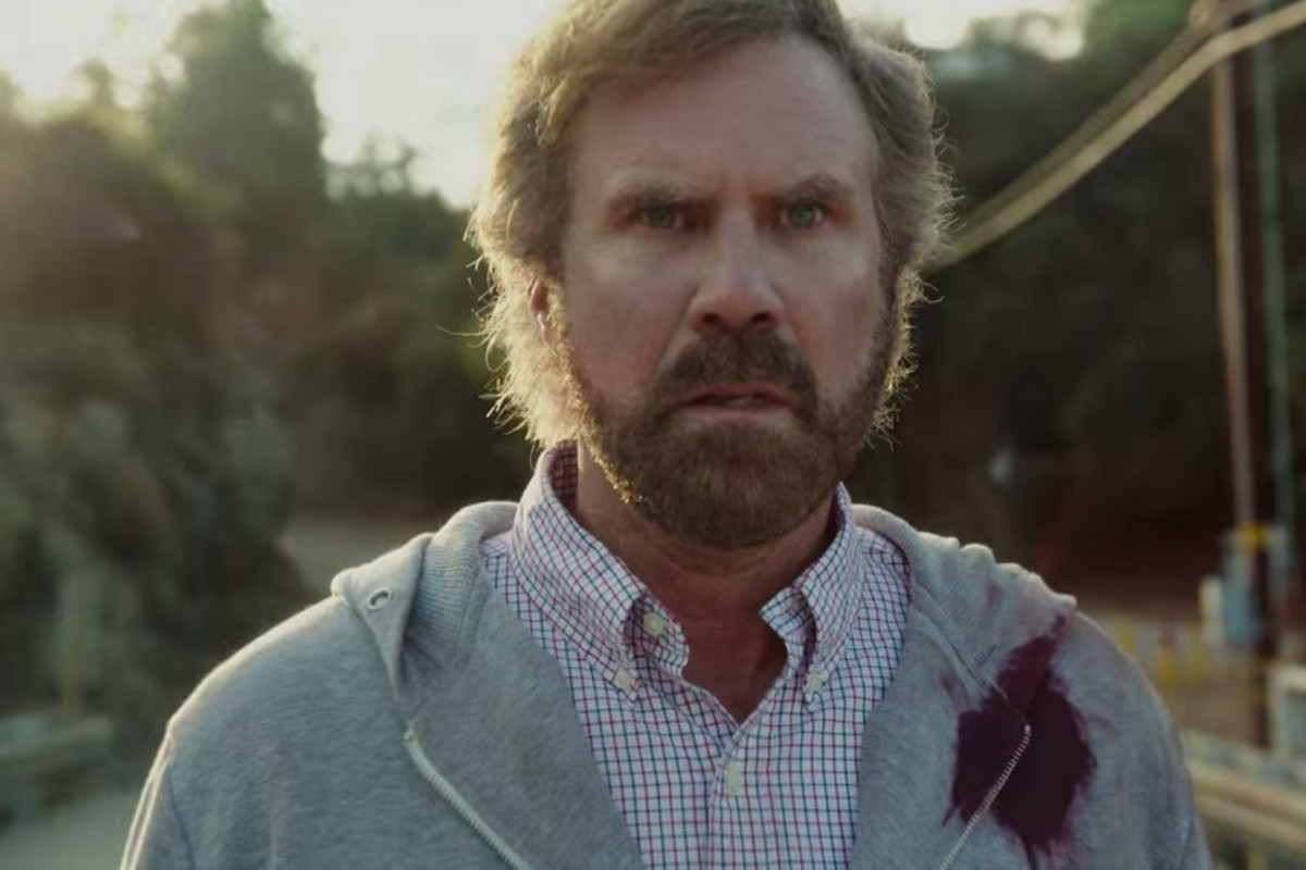 Will Ferrell wears this expression a lot in A Deadly Adoption.