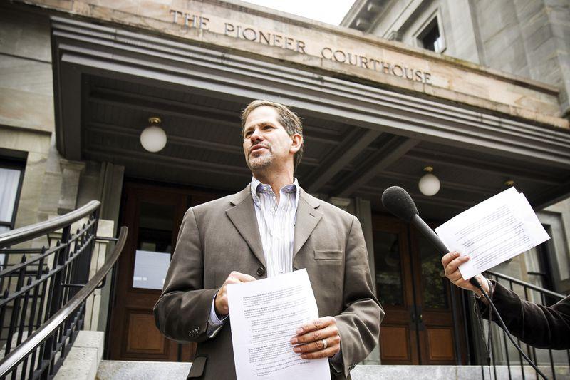 Oregon gubernatorial candidate Knute Buehler speaks during a news conference in Portland, Ore on Sept. 19, 2012.