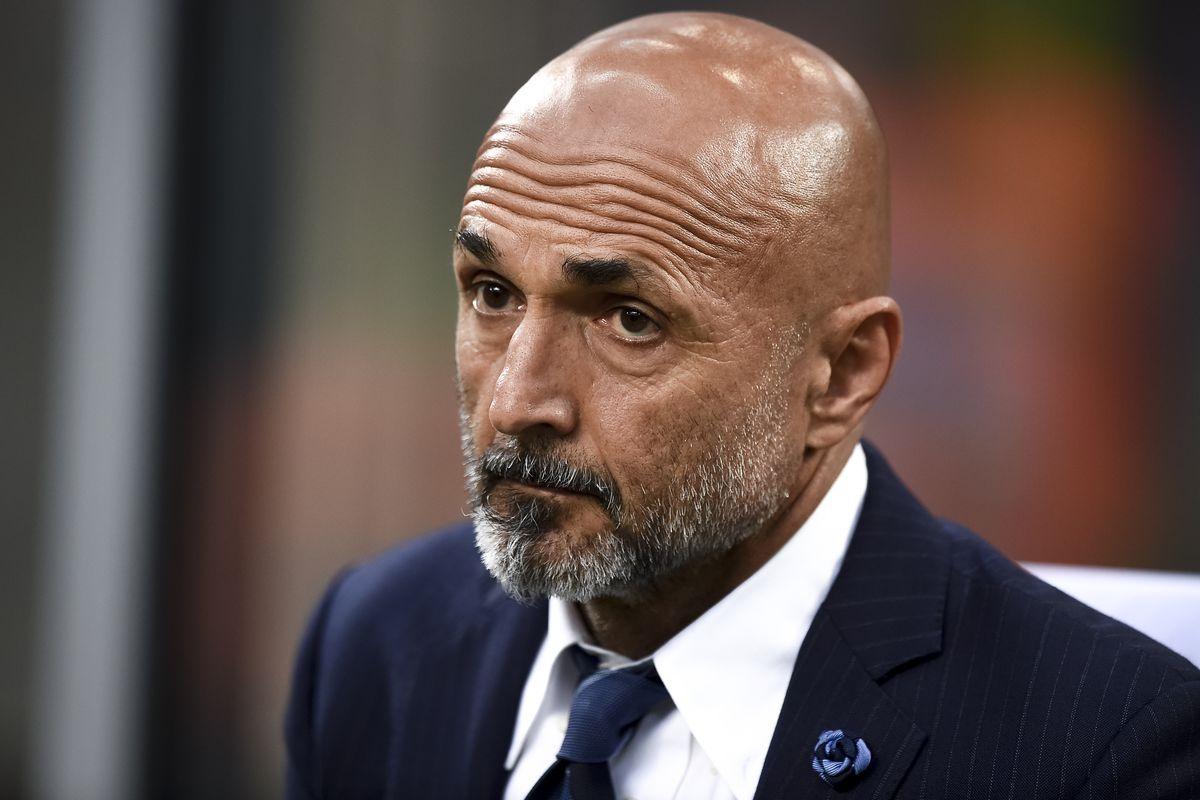 Luciano Spalletti, head coach of FC Internazionale, looks on...