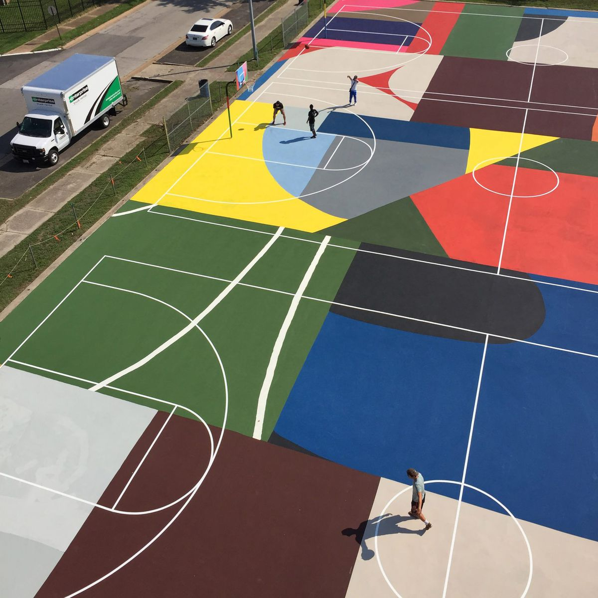 Basketball Courts Become Art Around The World Curbed