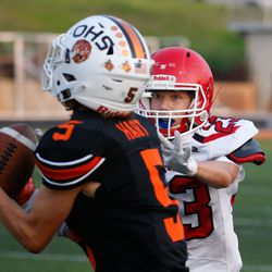 Ogden and Grand County compete in a high school football game at Ogden High School in Ogden on Friday, Sept. 3, 2021.