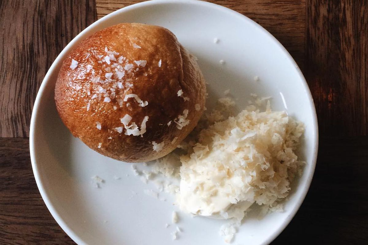 Beef and barley bun with horseradish at The Marksman in Hackney, rumoured to be opening a new London restaurant at the Market Halls food hall in Victoria, south London