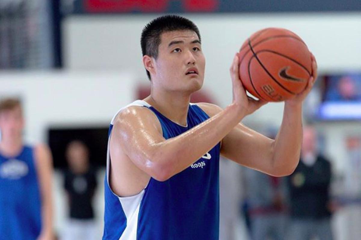 byu basketball recruiting 2019 chinese center shengzhe lee commits