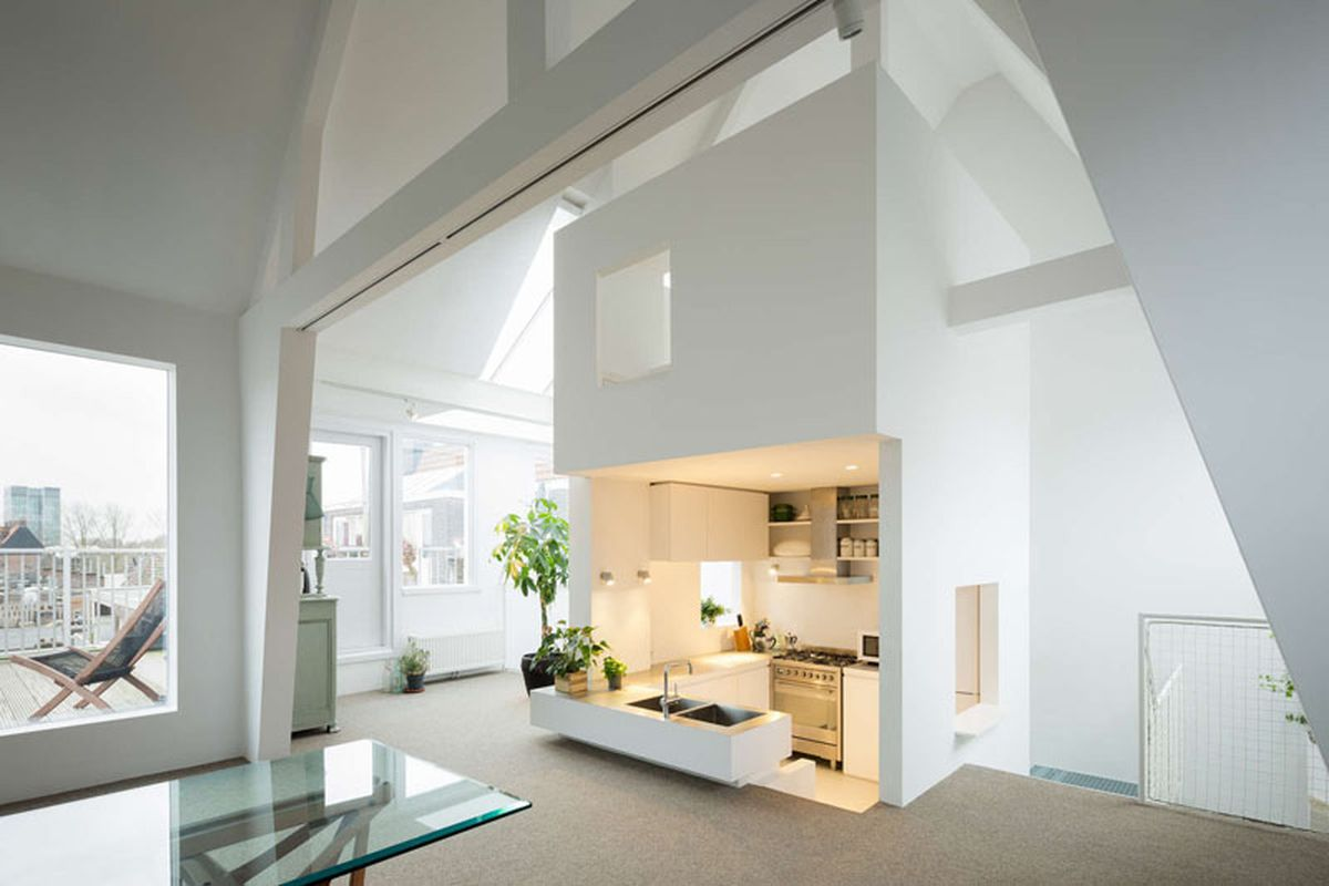 Revamp Transforms Apartment Into Airy Loft With A Cool