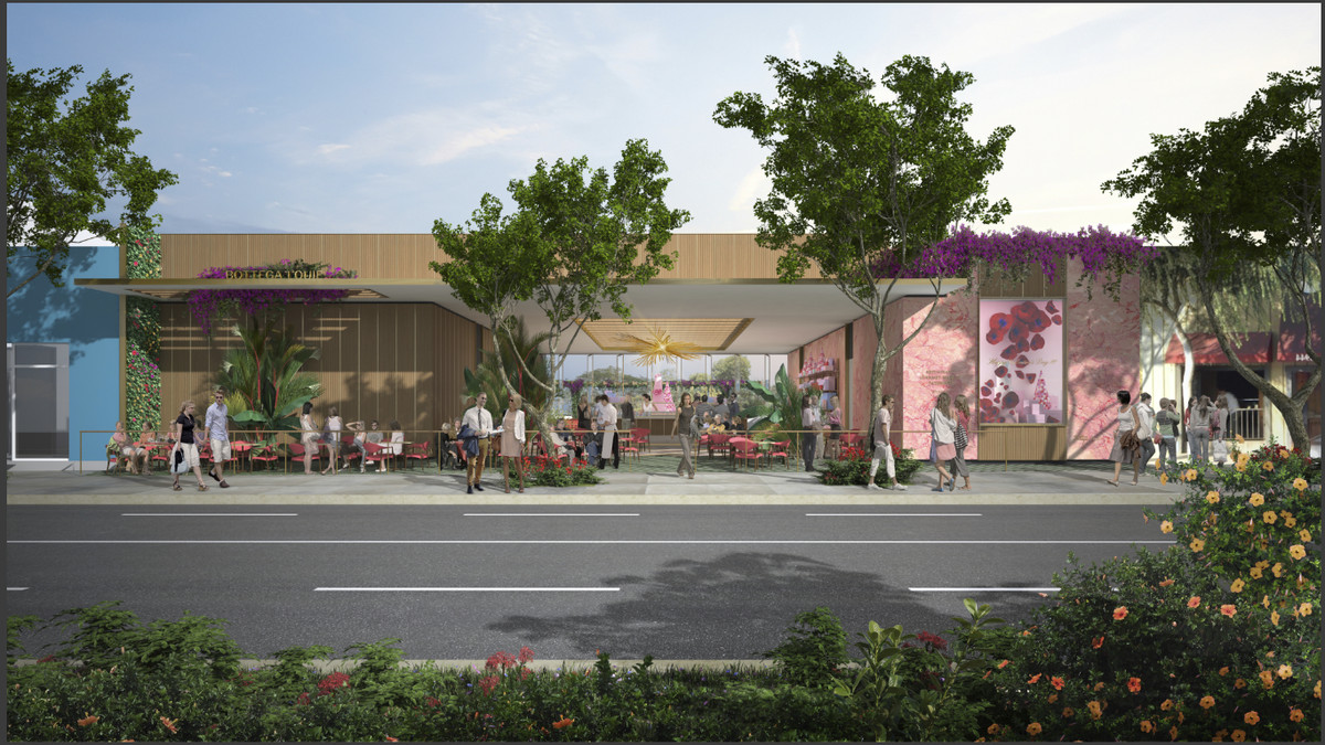 A rendering for an upcoming sprawling summertime restaurant.