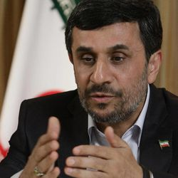 Mahmoud Ahmadinejad, President of the Islamic Republic of Iran, speaks during an interview with the Associated Press on Thursday, Sept. 22, 2011 in New York.
