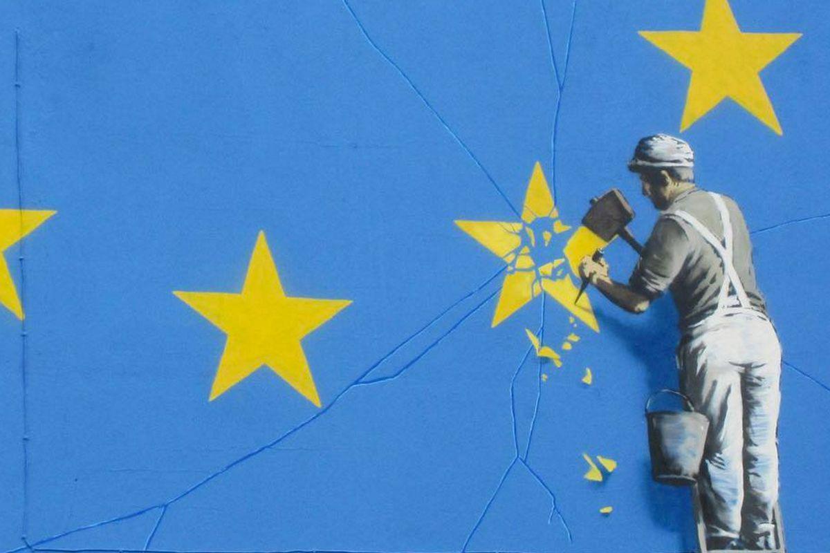 Banksy mural on Brexit