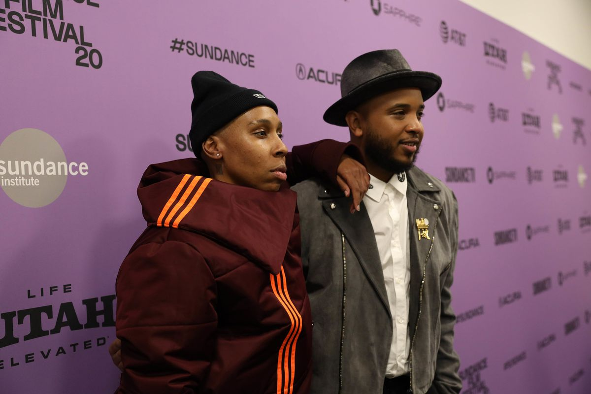 lena waite and justin simien on the red carpet for sundance 2020