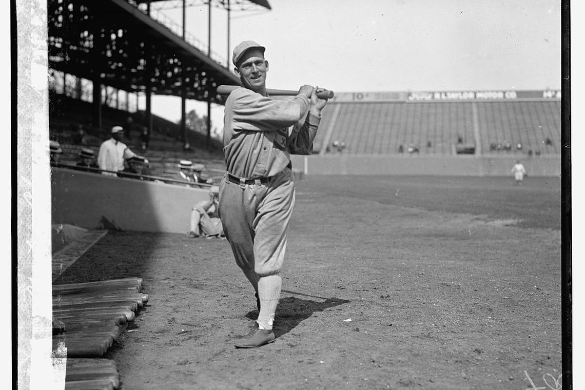 Johnny Mostil in 1924. (Library of Congress)