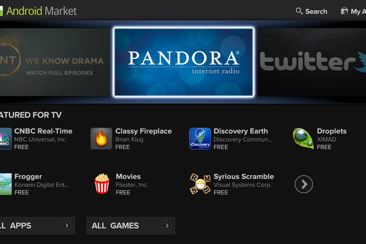 google tv android market