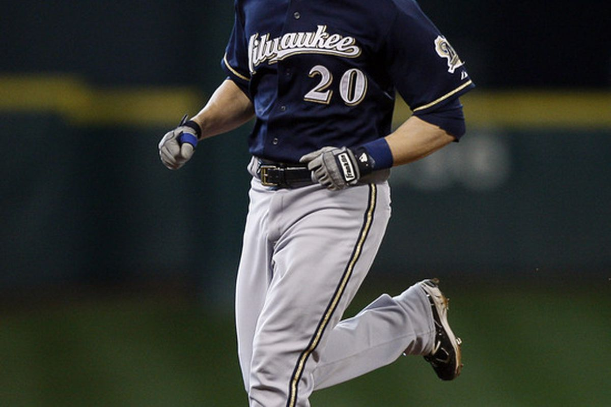 Jonathan Lucroy knows what to do after the big hit.  Savor the moment, then get right back down to business.  The players remaining in the Prognostikeggers playoffs would do well to remember this.