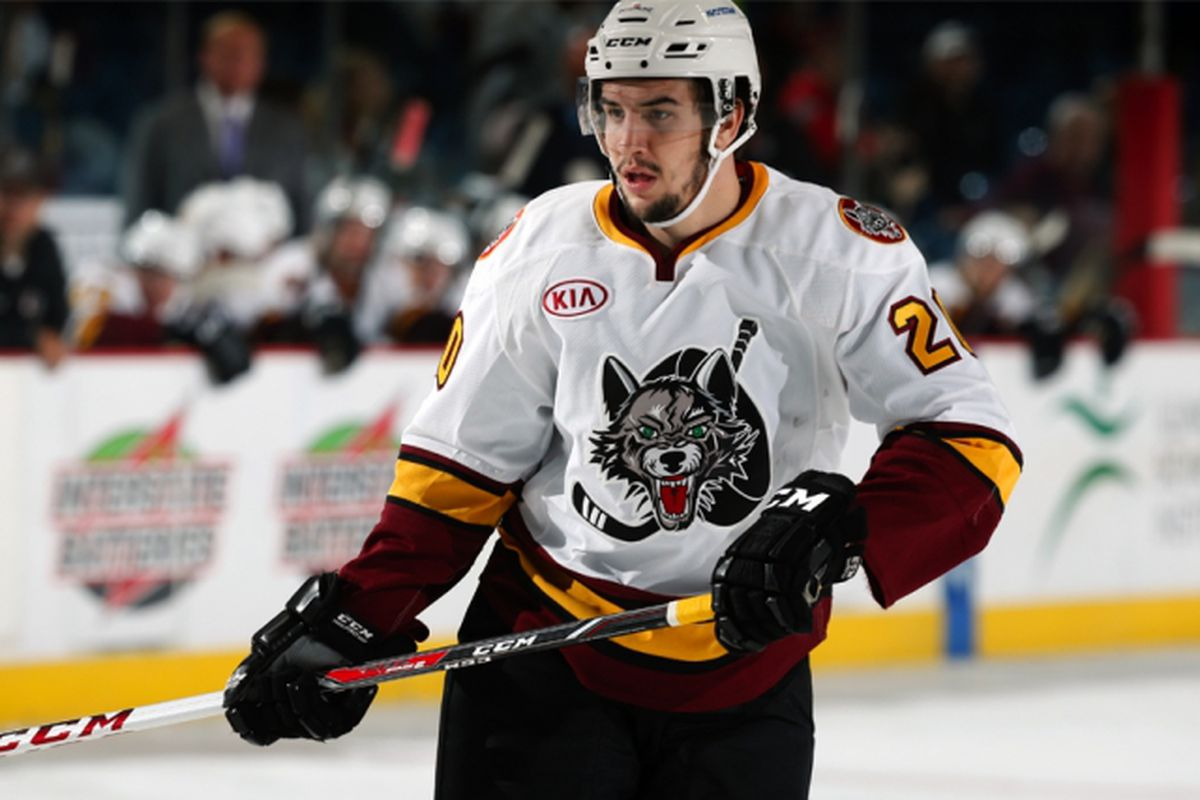 Cody Beach, the AHL's penalty minute leader, will miss two games this week on a suspension. Photo by