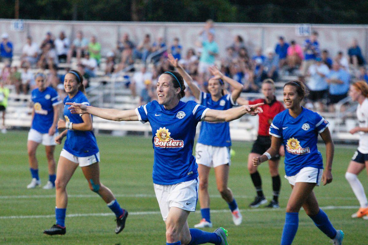 Bogus celebrates her goal