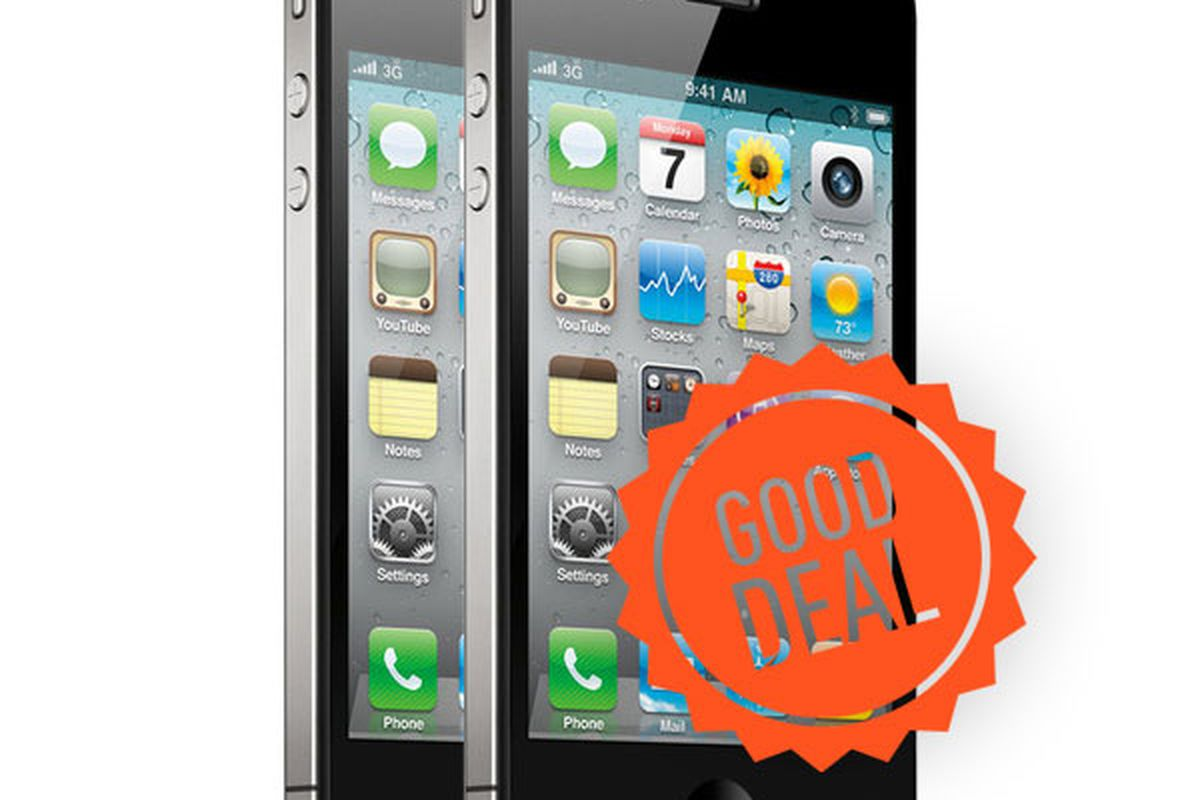Good Deal: iPhone 4 32GB buy one, get one free