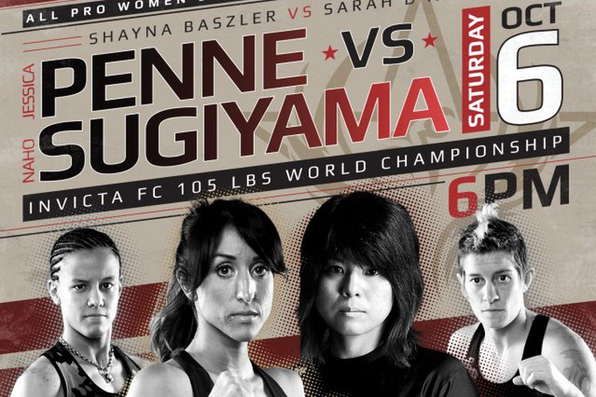 Invicta FC 3 live stream FREE for 'Penne vs  Sugiyama' on Saturday