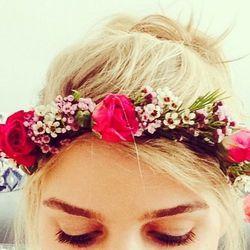 "<b>The Flower Crown:</b> <b>Crowns by Christy</b> <a href=""http://www.crownsbychristy.com/fresh-flower-crowns-2/"">fresh flower crowns</a>. Email christy@crownsbychristy.com to place a custom order"
