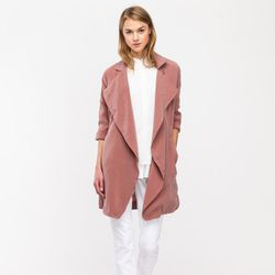 """Blush Trench, <a href=""""http://needsupply.com/womens/tops/outerwear/blush-trench.html"""">$118</a> at Need Supply Co."""
