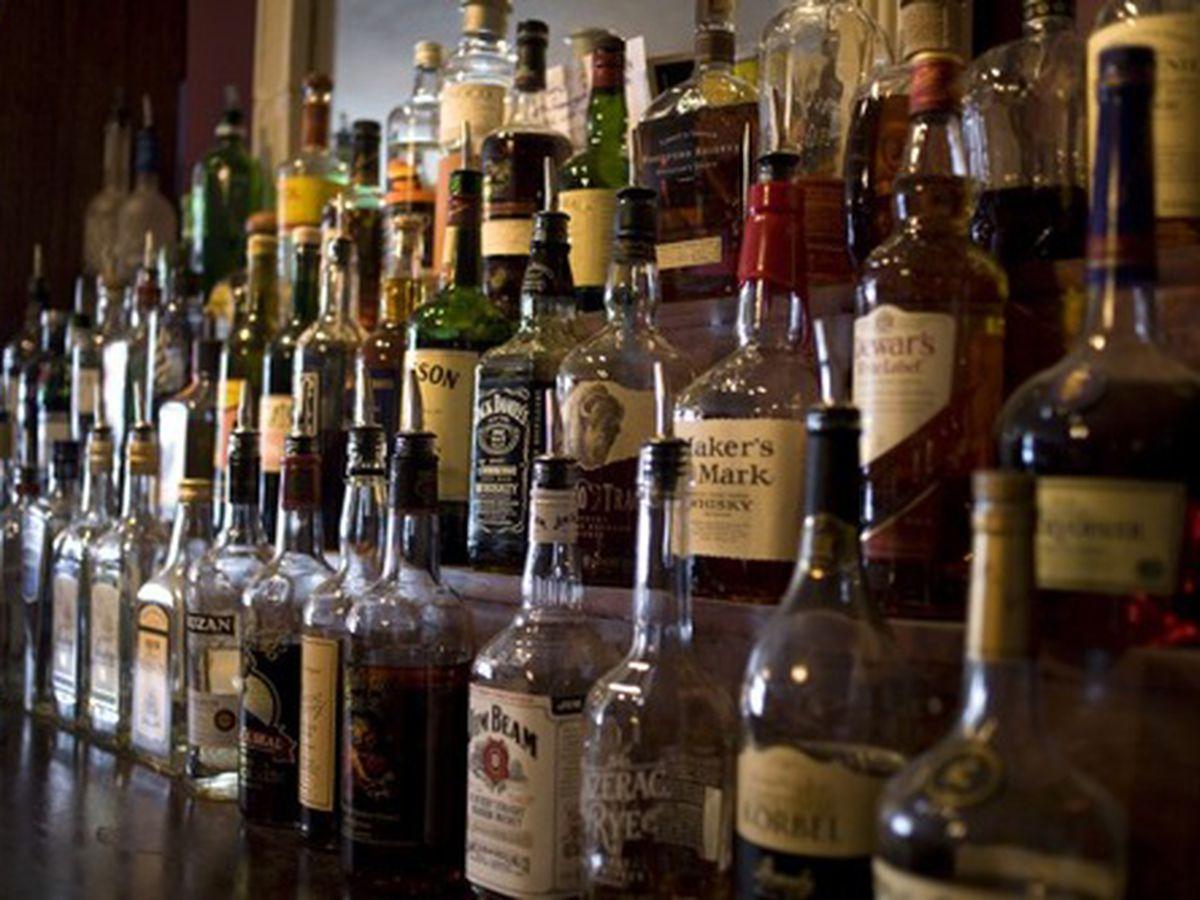 Behind the bar at Twelve Mile Limit.