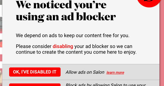 photo image Salon asks ad-blocking users to opt into cryptocurrency mining instead