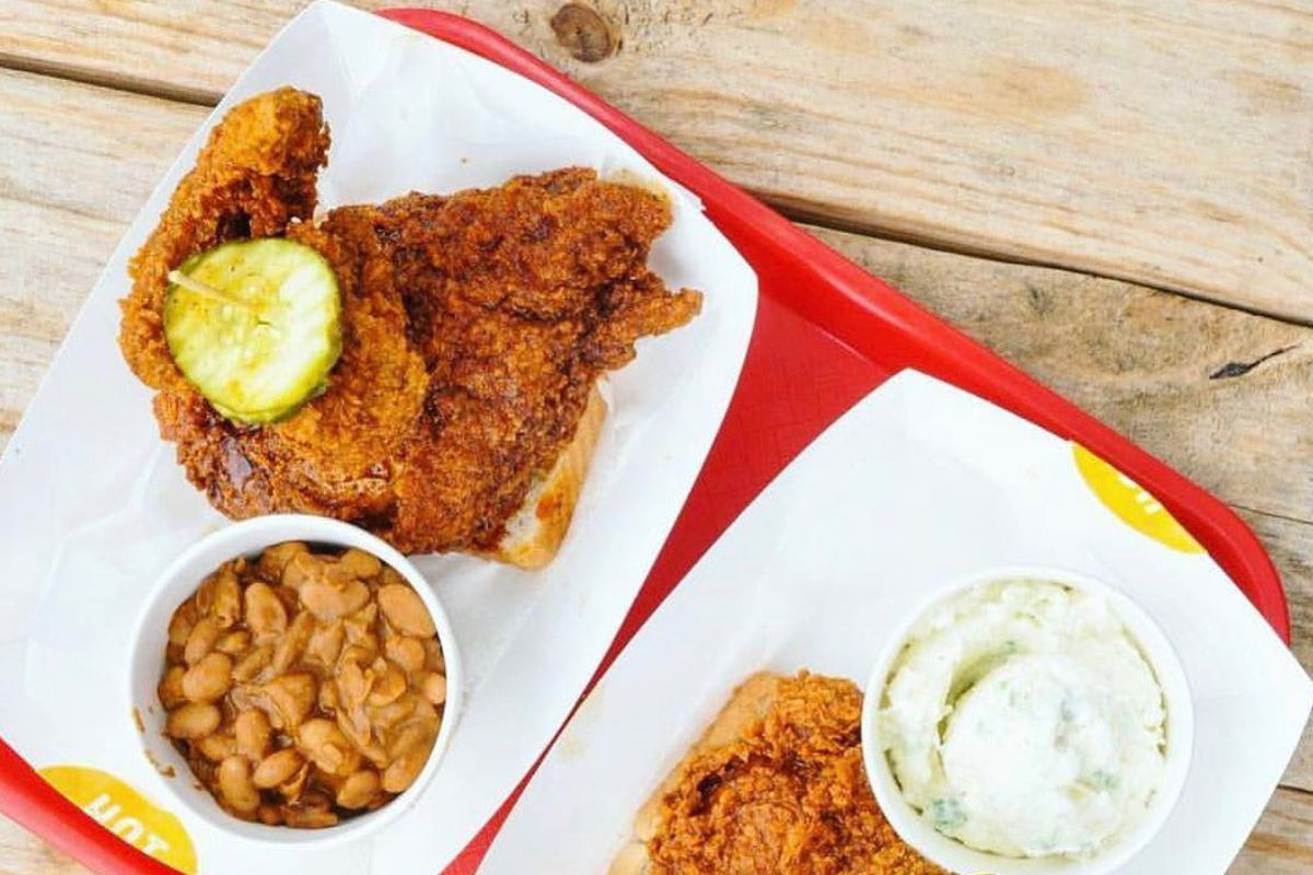 Hot chicken and sides from Tumble 22