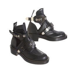 "<b>Balenciaga</b> Buckle Strap Ankle Boot, $1,275 at <a href""http://www.barneys.com/Balenciaga-Buckle-Strap-Ankle-Boot/502689270,default,pd.html?cgid=BARNEYS&index=3"">Barneys</a>"