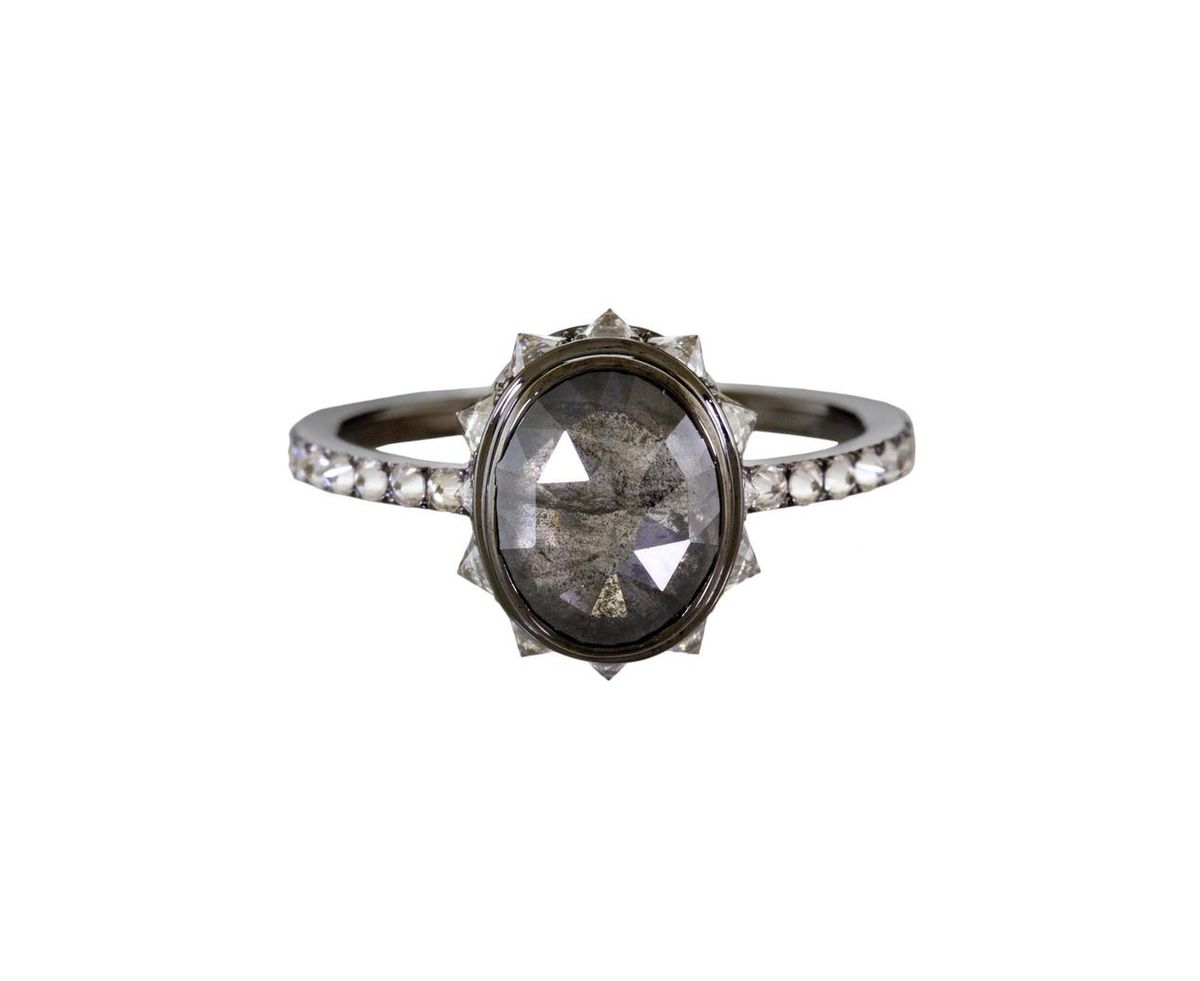 Eva Fehren rustic diamond ring