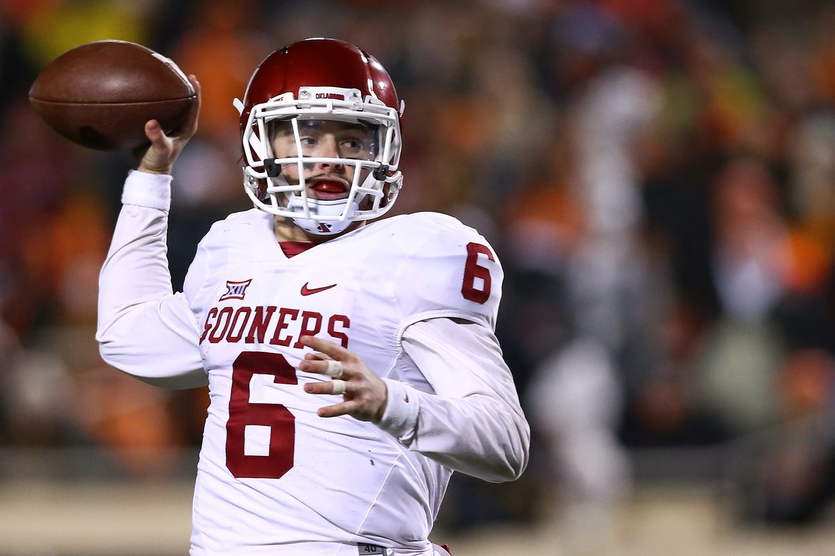 premium selection d0bc0 61ba8 Report: Jets met at length with Baker Mayfield at Senior ...