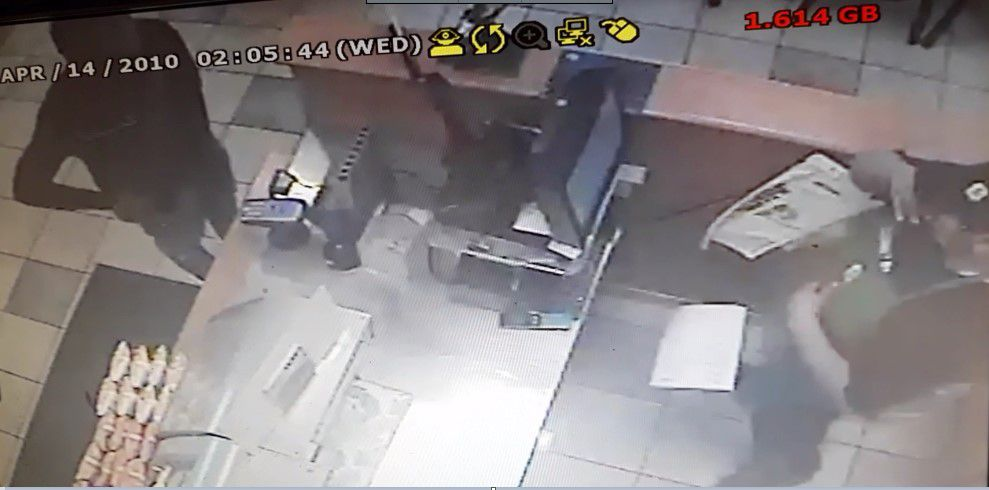 Authorities say this surveillance photo shows Brantez Evans flash a gun to a teller at Subway, 1234 N. Halsted St. on June 25, 2019.