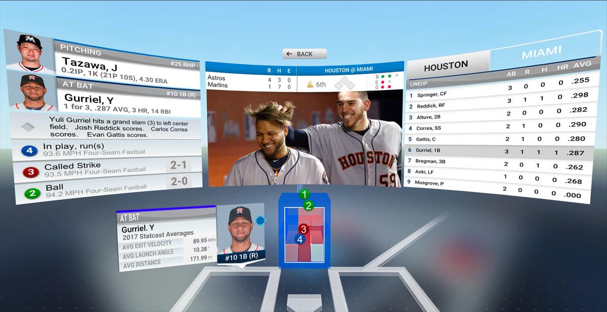 MLB.com At Bat VR - 3D pitch visualization