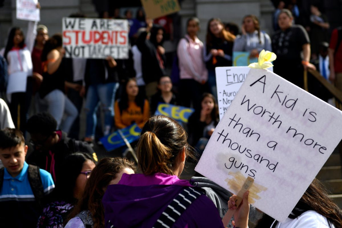 One month after a deadly school shooting in Parkland, Florida, students across the country walked out of class to protest gun violence.