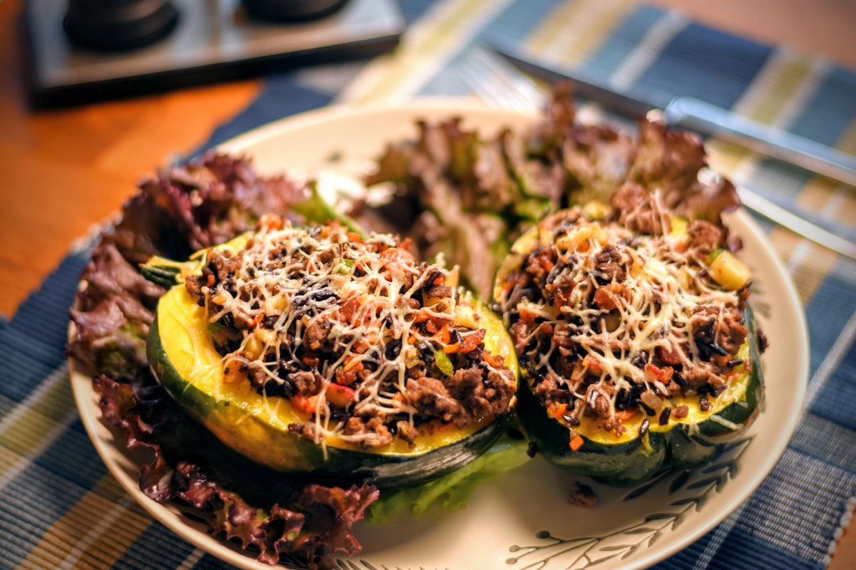 """Jack Hennessy goes fall in Venison-Stuffed Acorn Squash for """"Braising the Wild."""""""