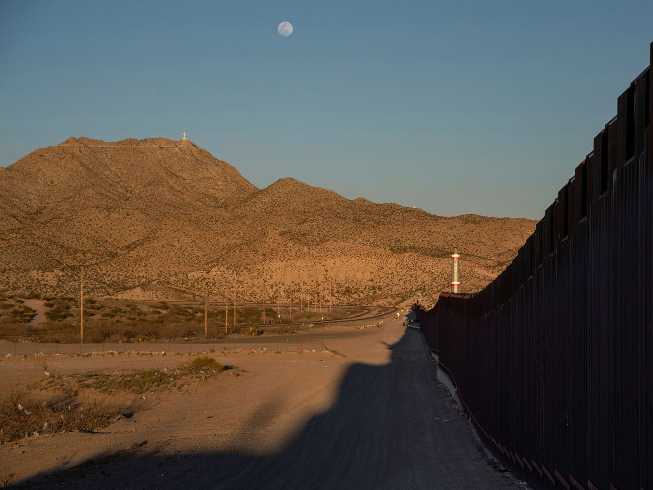 The US-Mexico border wall in New Mexico.