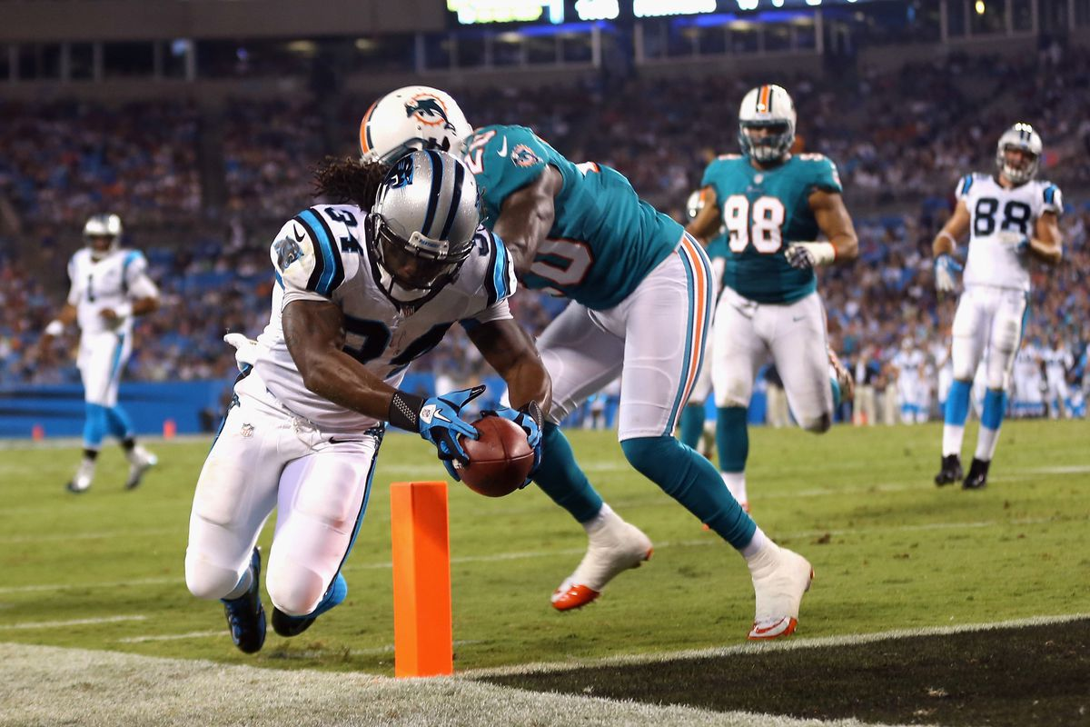 Safety Reshad Jones and the rest of the Miami Dolphins defense has struggled early this preseason.  (Photo by Streeter Lecka/Getty Images)