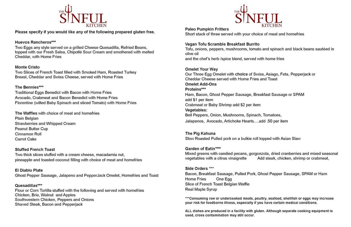 Opening Alert: No Judgment at The Sinful Kitchen - Eater Maine