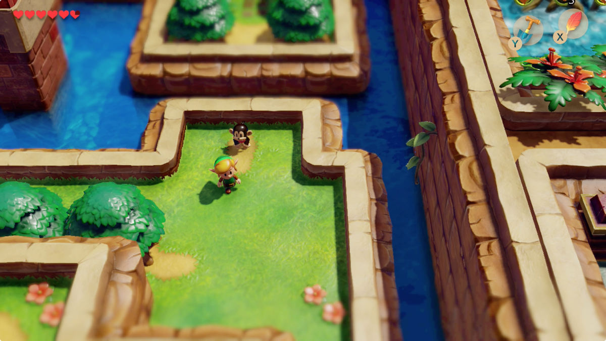 Link's Awakening Kanalet Castle talk to Kiki the Monkey to get inside