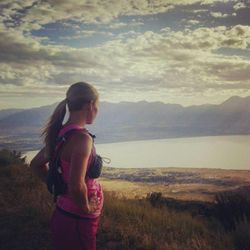 Arianne Brown looks out over Utah Lake.