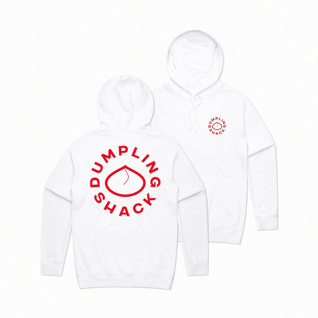 This hoodie from Dumpling Shack is some of the best restaurant merch to buy in London