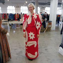 "Stylist and <a href=""http://www.violetvillevintage.com"">Violetville Vintage</a> owner Tina Poppy."