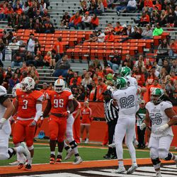Celebrating Isaac Holder's touchdown