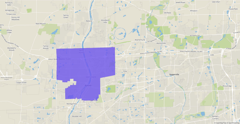 Illinois House 83rd District map.