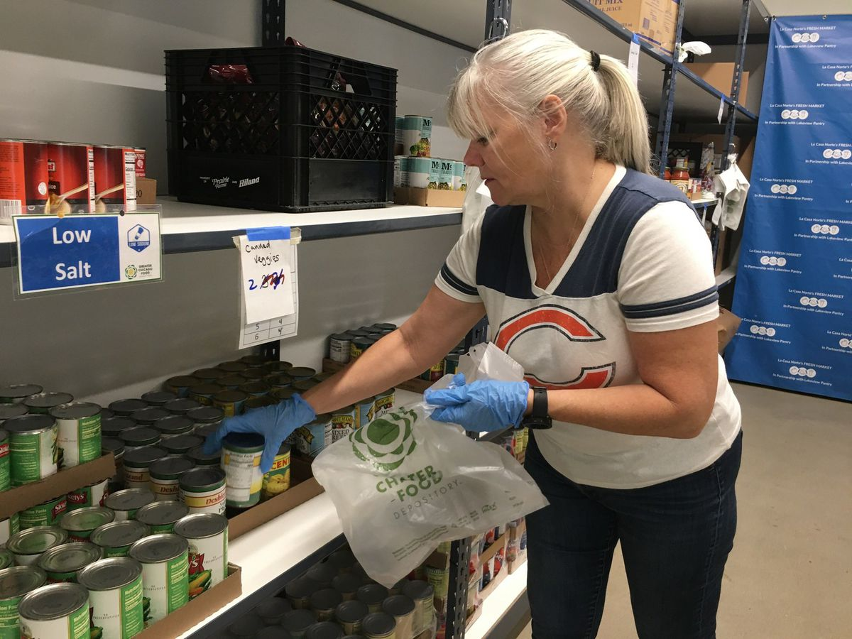 Jill Carroll is volunteer atthe Hub, a foodpantry inLakeview.