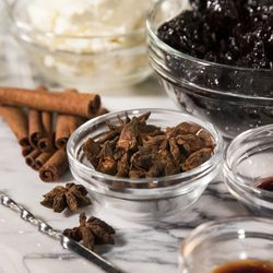 Star anise and cinnamon are among the ingredients for a dessert recipe from Koval Distillery.  | Ashlee Rezin/Sun-Times