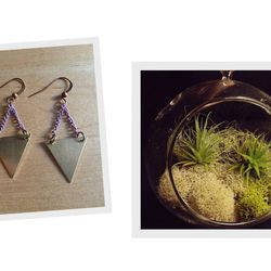 """Cool jewelry and air plant terrariums from <a href=""""http://www.stitchprism.com"""">Stitch Prism</a>."""