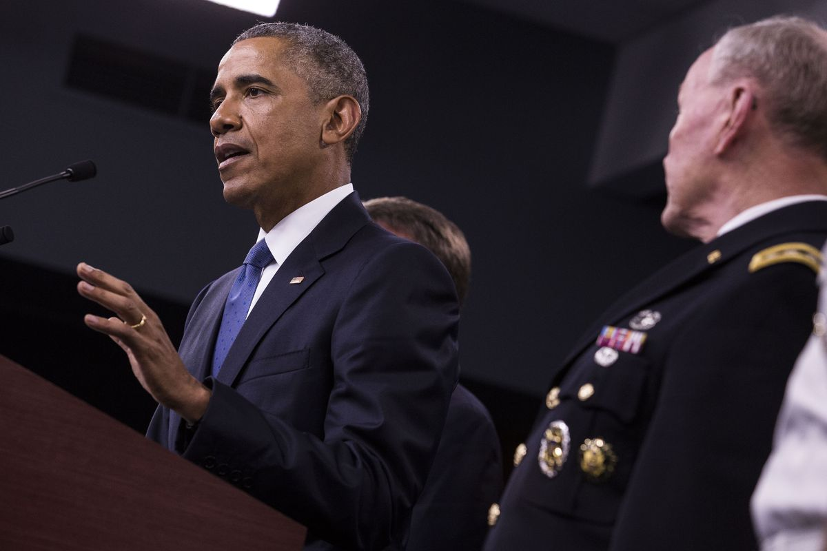 President Obama Receives an Update on ISIS at the Pentagon