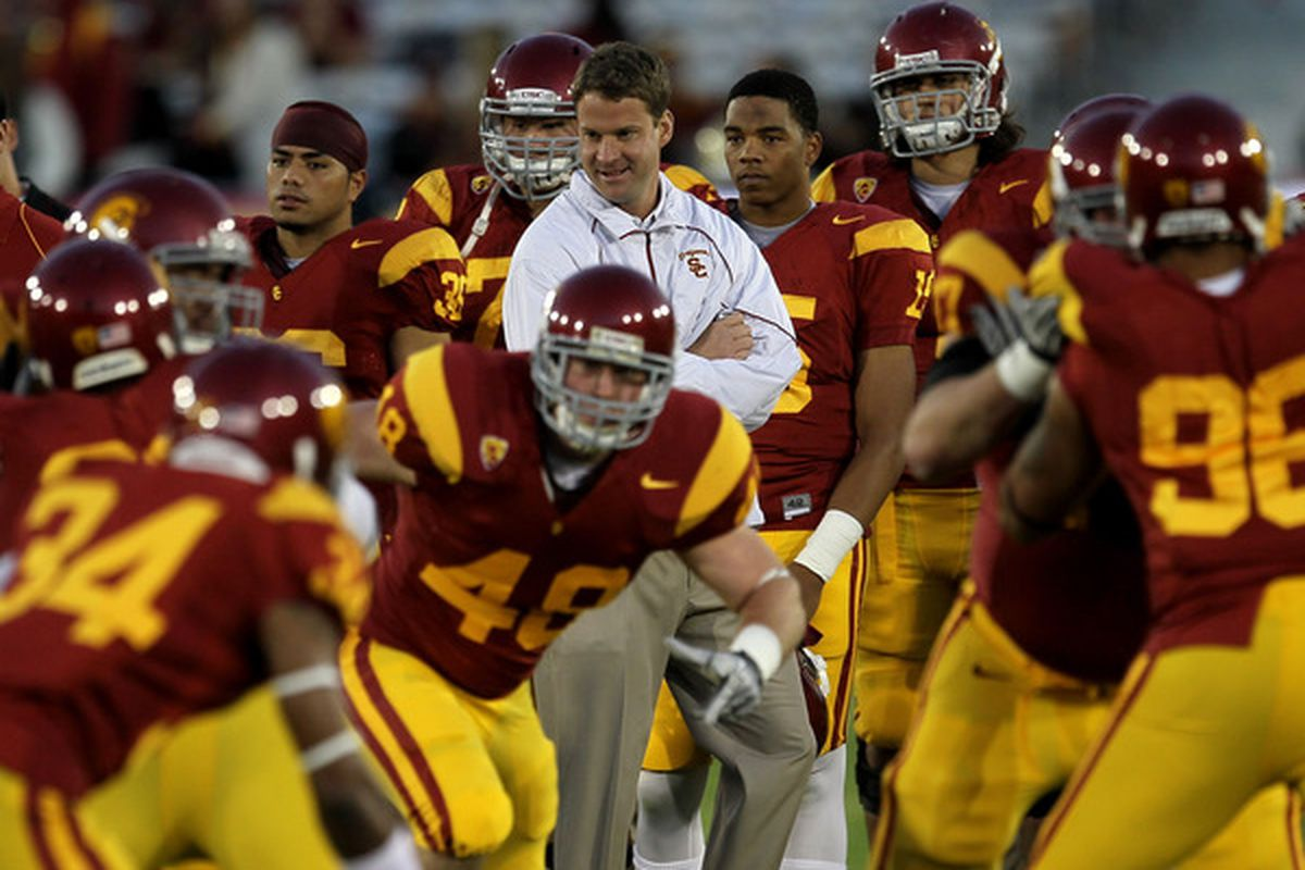 <strong>Like it or not</strong>: No matter the results, it's always about Lane Kiffin and it always will be. (Photo by Stephen Dunn/Getty Images)