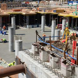 1:25 p.m. The plaza section, where the Cubs clubhouse will be located underground -