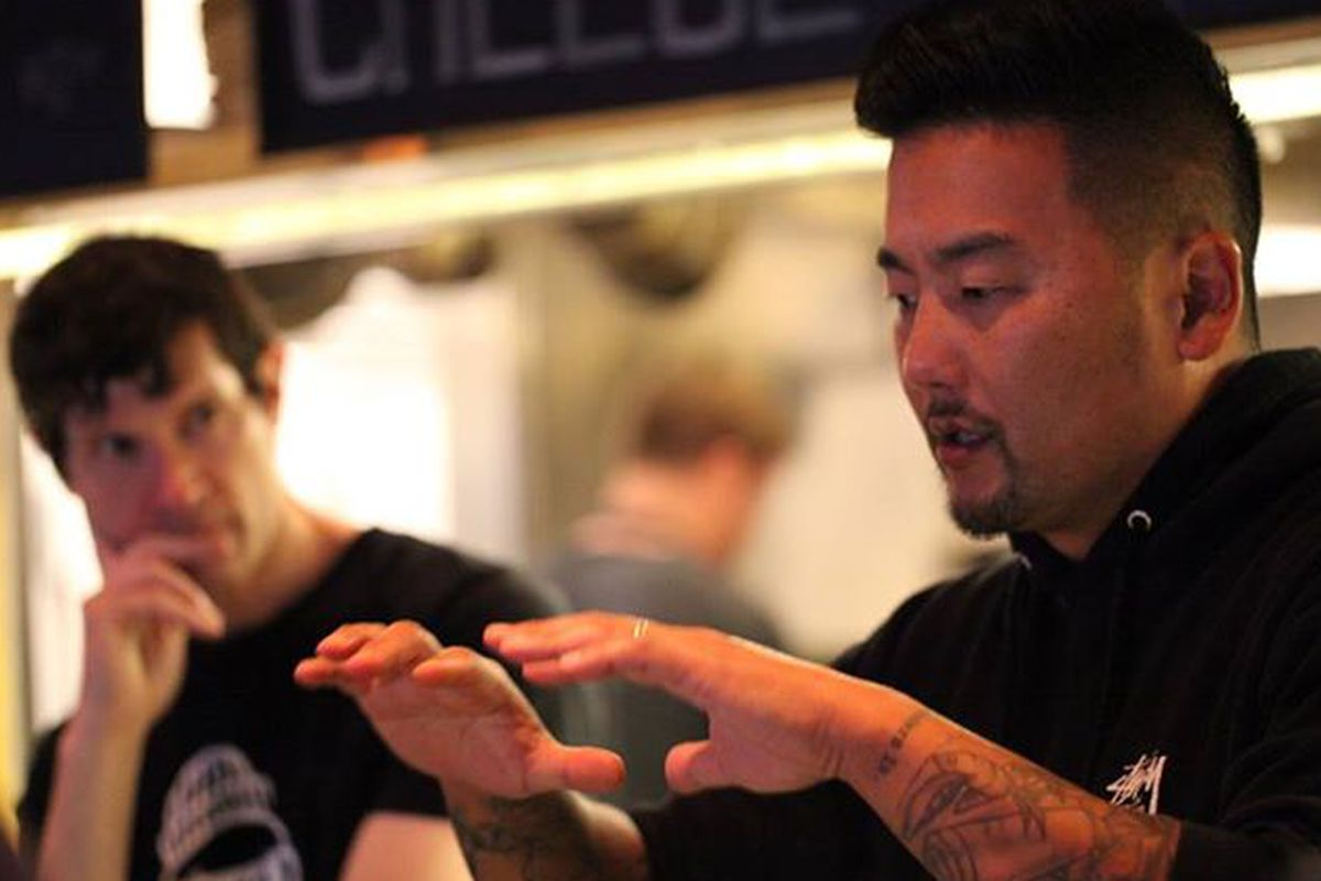Chefs and Loco'l founders Daniel Patterson (L) and Roy Choi.