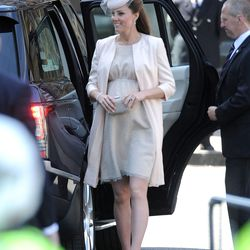At Westminster Abbey on June 4th, 2013 in a Jenny Packham dress, Jane Taylor hat, and L.K. Bennett pumps.