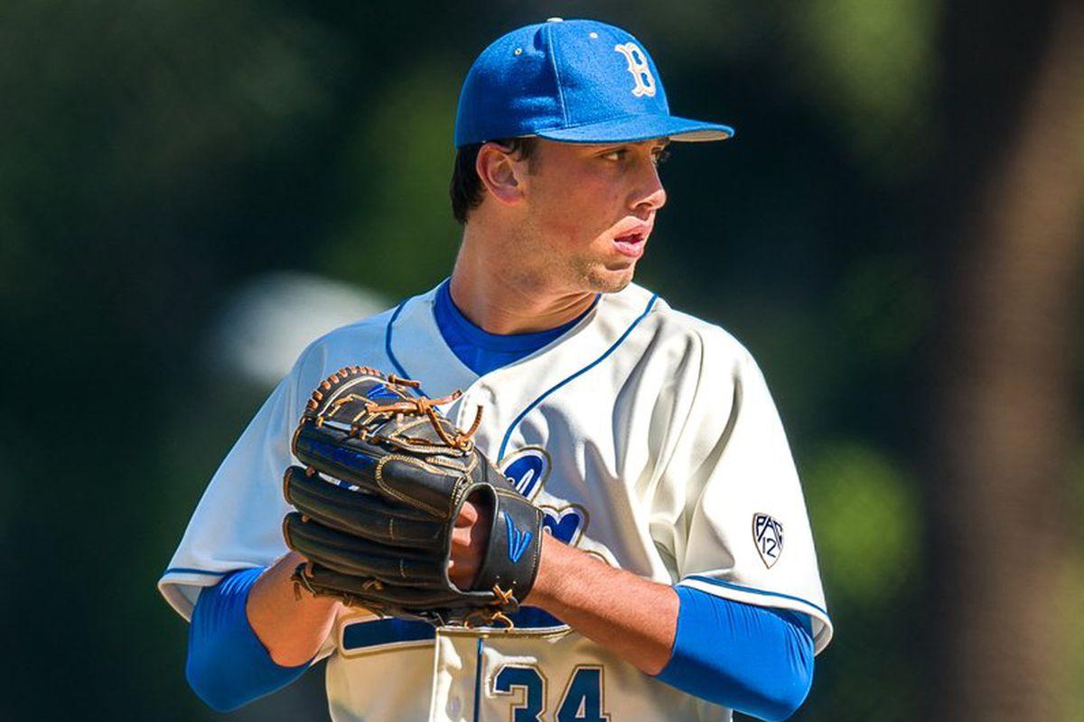UCLA freshman starting pitcher, Kyle Molnar