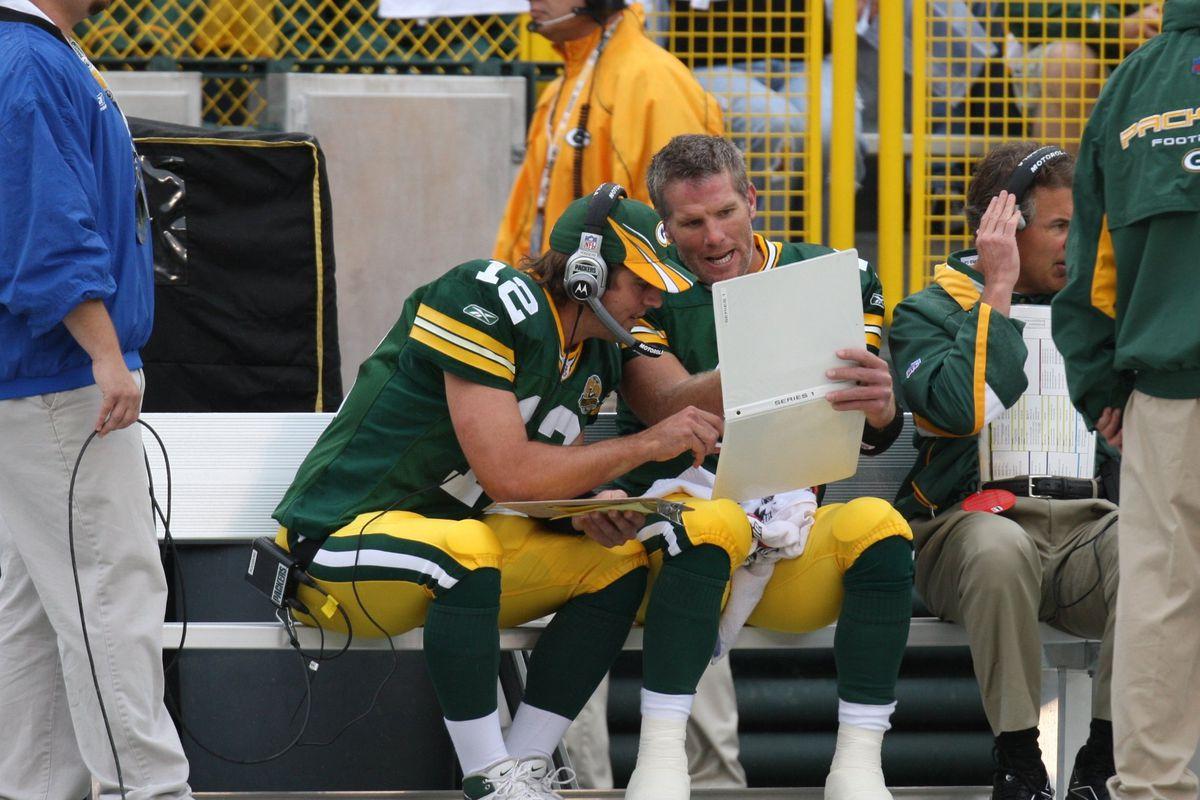 Green Bay Packers QB Brett Favre...